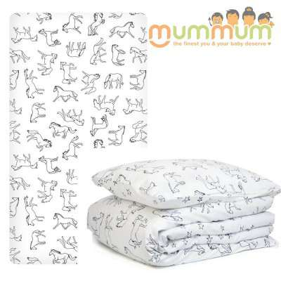Burrow & Be Custom Cot Duvet Cover - Horse