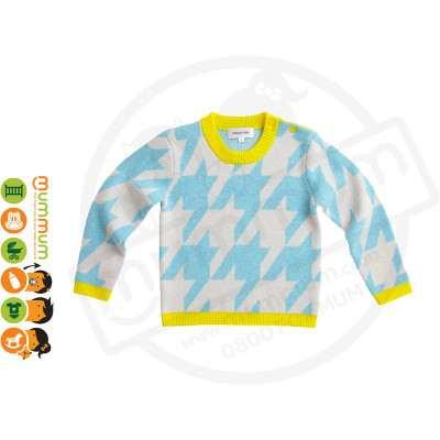 Atelier Child Hound Sweater Aqua Size 6/7Y