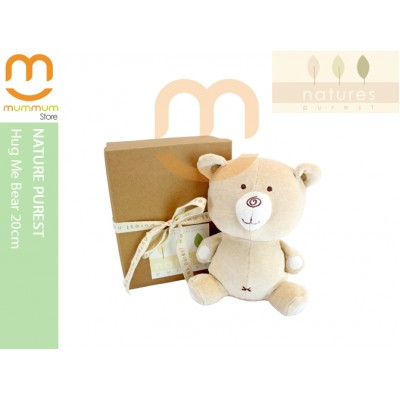 Natures Purest Hug Me Bear 20cm Soft And Cuddly