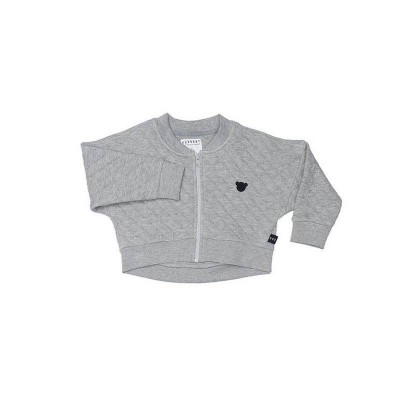 Huxbaby Stitch Balloon Jacket Grey 1-5y