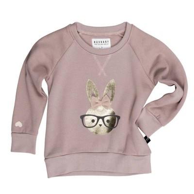 Huxbaby Bunny Sweatshirt plum  1-5y