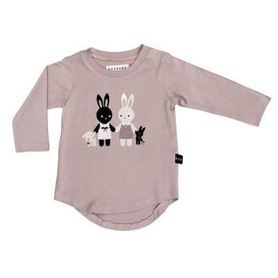 Huxbaby Bunny Long Sleeve Top plum  2-5y