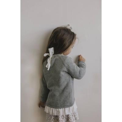 Jamie Kay Frill Knit Top Light Grey Marle