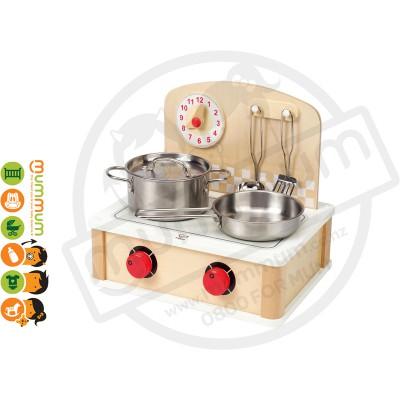 Hape Kids Pretend Play Wooden Toy Cooktop
