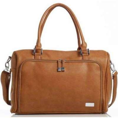 ISOKI double zip satchel redwood / Chestnut