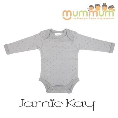 Jamie Kay Longsleeve Bodysuit Tiny Dots Ash Grey