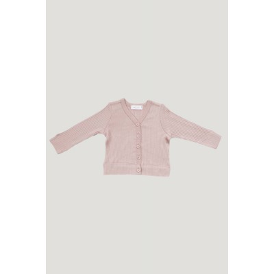 Jamie Kay Cotton Modal Cardigan Rose Smoke