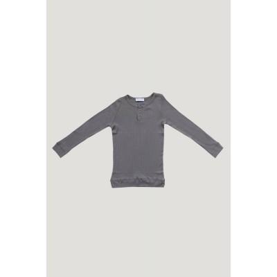 Jamie Kay Cotton Modal Henley Titanium Long Sleeve Top