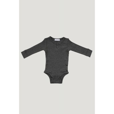 Jamie Kay Cotton Bodysuit Dark Grey Marle 3-6m