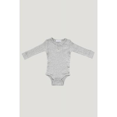 Jamie Kay Cotton Modal Essentials Bodysuit Light Grey