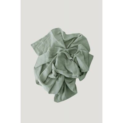 Jamie Kay Cotton Muslin Wrap Blanket - Sage