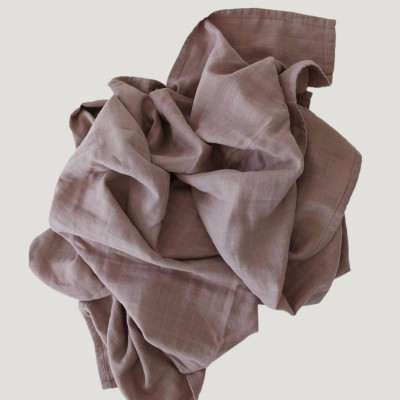 Jamie Kay Cotton Muslin Wrap Blanket - Rosy