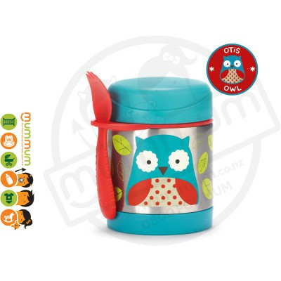 Skip Hop Insulated Food Jar - Owl Thermos Food Jar Cold or Warm For Lunch