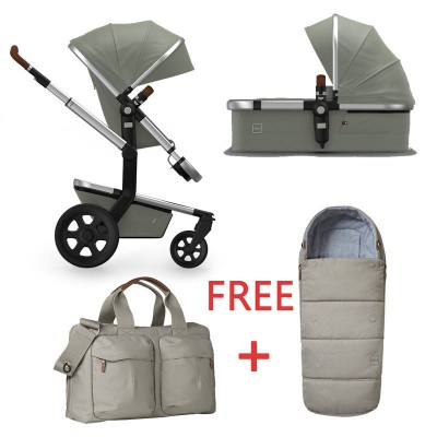 Joolz Day2 Pram Earth Elephant Grey With Nursery Bag + Footmuff