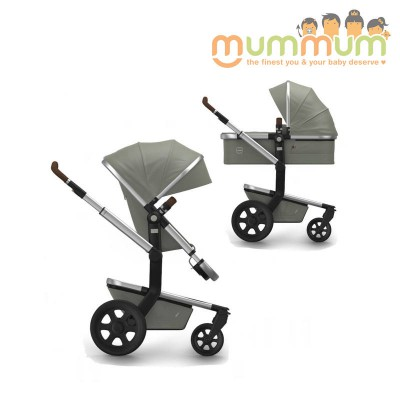 Joolz Day2 Pram Earth Elephant Grey All Terrian (Chassis, Bassinet, Seat, storage basket)