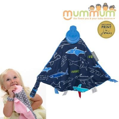 Cheek Chompers Comforterchew Teether with Tag Joules Shark