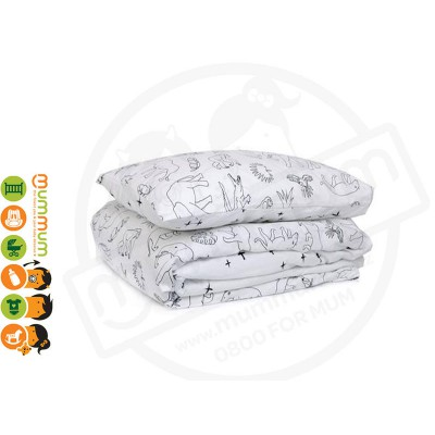 Burrow and Be Duvet Cover NZ made for Cot Cuvet 120*150 Jungle