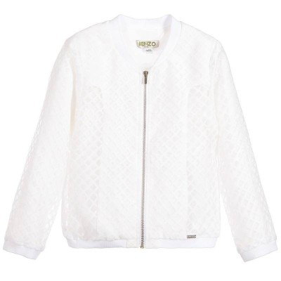 Kenzo Kids Summer Jacket White 4A, 6 A