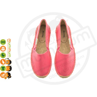 Soludos Kids Slip-On Shoe Neon Pink Stock Clearance
