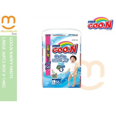 Goo.N Nappy Pants Large 56pcs Boy 9-14kg