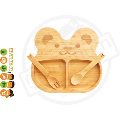 La Boos Bear Toddler Eating Plate 3PC Set
