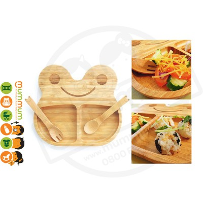 La Boos Frog Toddler Eating Plate 3PC Set