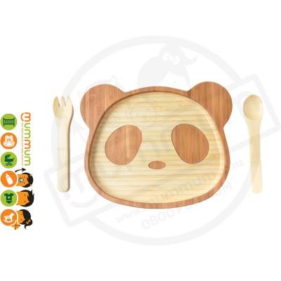 La Boos Panda Toddler Eating Plate 3PC Set