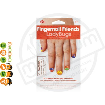 Npw Fingernail Friends Ladybugs Nail Stickers / Accessories