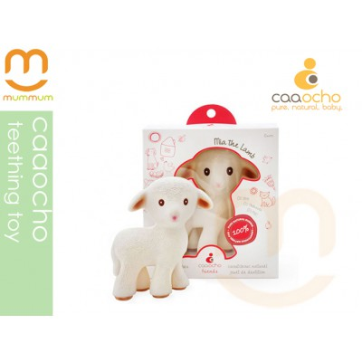 caaocho Mia The Lamb Natural Rubber Teething Toy Teether