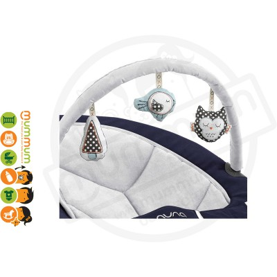 Nuna Leaf Toy Bar Silver