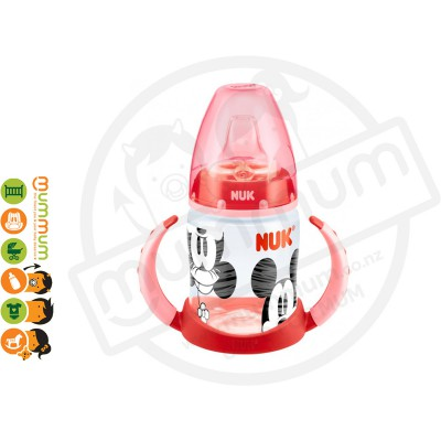 Nuk Disney Baby PP Taining Bottle, 150ml, Minnie Mouse (Red)