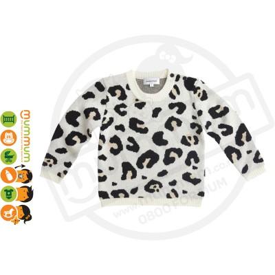 Atelier Child Leopard Sweater Caramel Size 5/6Y