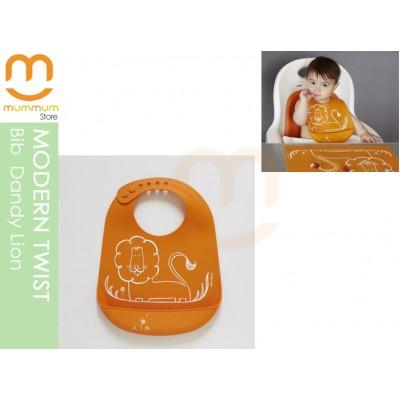 Modern Twist Silicon Bucket Bib Dandy Lion Orange