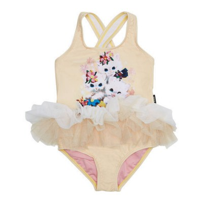 Rock your baby Swimming Togs Little Kittens Tulle one piece Apricot 2Y-6Y