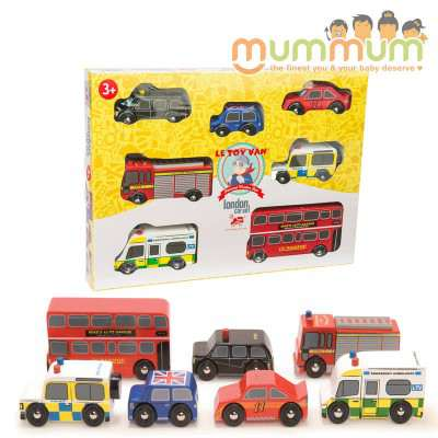 Le Toy Van London Car Set Perfect For Pretend Play