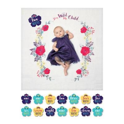 lulujo Milestone set Stay wild My child Blanket Photo Shot