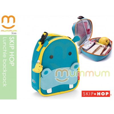 SKIP HOP Zoo Lunchie insulated lunch bag Hippo