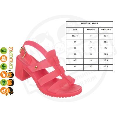 Melissa Flox High Women's Sandal Pink Size 38 Stock Clearance