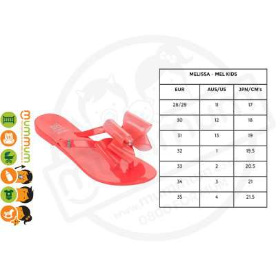 melissa Kidz Harmonic Triple Bow Orange Size33 Stock Clearance
