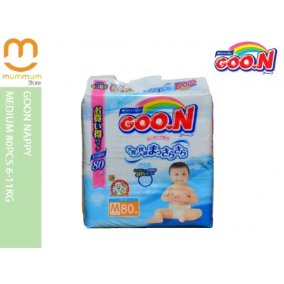 GooN Nappy Medium 80pcs 6-11kg