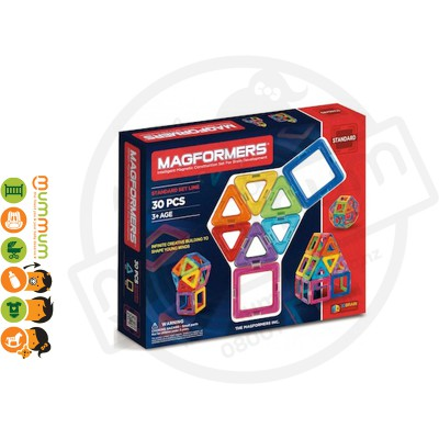 Magformers 30Pcs Magnetic Construction Set