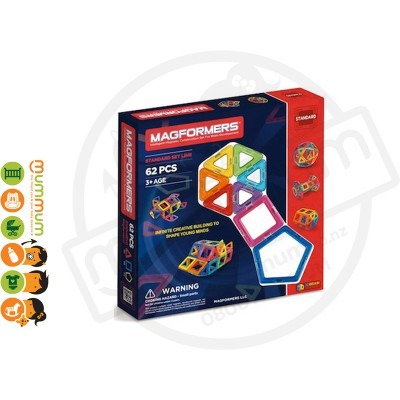 Magformers Magnetic Construction Set 62Pc Set