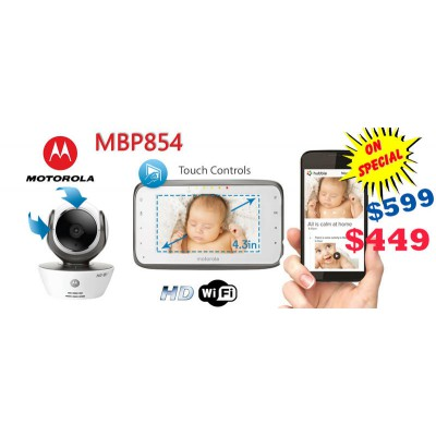 Motorola Baby Wi-Fi Monitor MBP854 Compatible with Smartphone