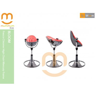 Bloom Fresco Chrome Highchair Mercury Frame