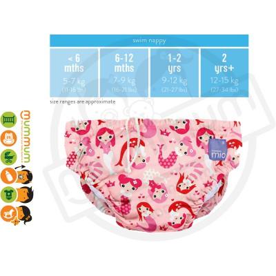 Bambino Mio Swim Nappy Mermaid Medium 7-9KG