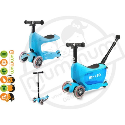 Micro Mini2go Deluxe Plus - Scooter Blue