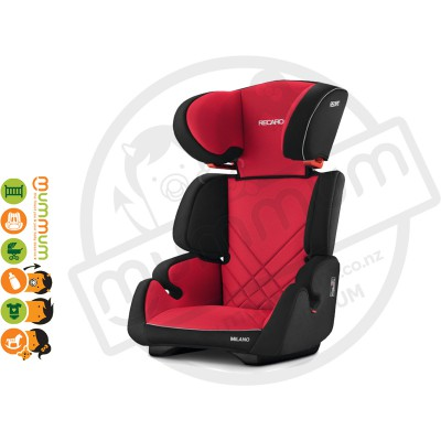 Recaro Milano Booster Seat - Racing Red