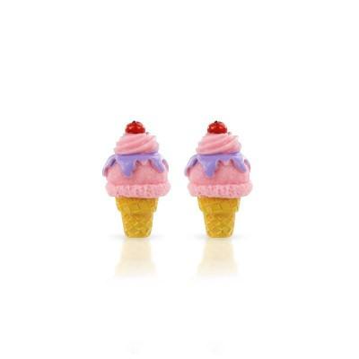 Milk & Soda Earrings Ice Cream Strawberry