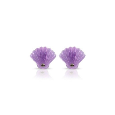Milk & Soda Earrings Seashell Lilac