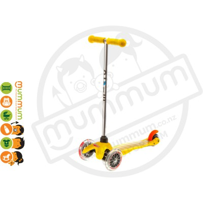 Micro Mini Scooter Yellow Compatible with Obar up to 20kg